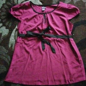 Maternity top, large, purple, excellent cond